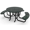 "Elite Series 46"" Round Thermoplastic Polyethylene Coated Picnic Table"