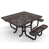 "Elite Series ADA Compliant 46"" Square Thermoplastic Polyethylene Coated Picnic Table"