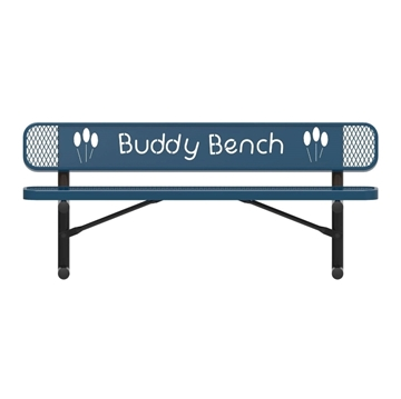 ELITE Series Thermoplastic Buddy Bench, 4 Foot, 6 Foot, or 8 Foot