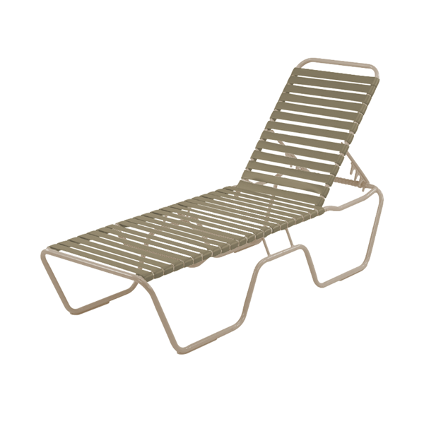 St. Maarten Chaise Lounge Vinyl Straps with Aluminum Frame