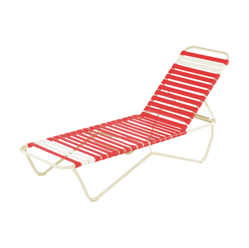 St. Lucia Vinyl Strap Chaise Lounge made with an Aluminum Frame. Commercial Pool Furniture