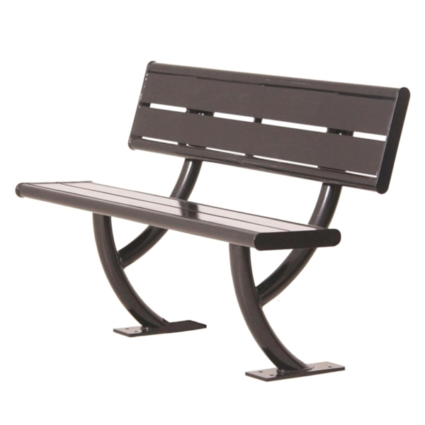 Acadia Steel Bench with Back - 4 Ft. or 6 Ft.