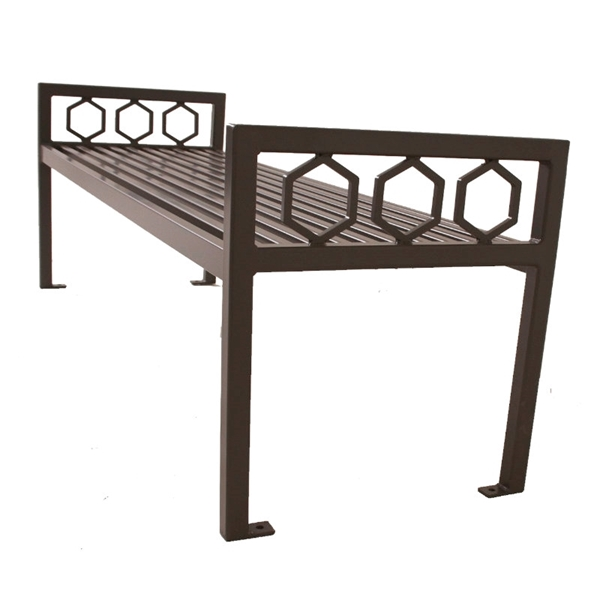 Biscayne Steel Bench without Back - 4 Ft., 6 Ft., or 8 Ft.