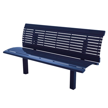 Arches Steel Bench with Back - 6 Ft.