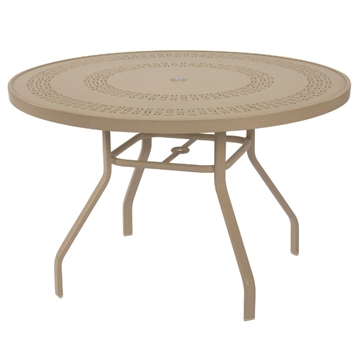 "42"" Round Mayan Punched Aluminum Dining Table"