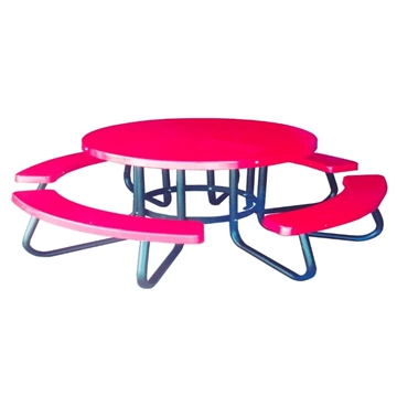 "Children's 48"" Round Fiberglass Picnic Table"