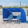 Concession Grade Beach Cabana with Windscreen