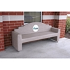 7 Ft. Memorial Concrete Bench Concrete with Custom Logo Option