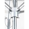 6.5 Foot Square Aluminum Market Umbrella with Marine Grade Fabric