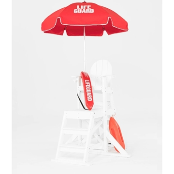 6.5 Ft. Printed Lifeguard, Steel Frame Umbrella with Aluminum Pole