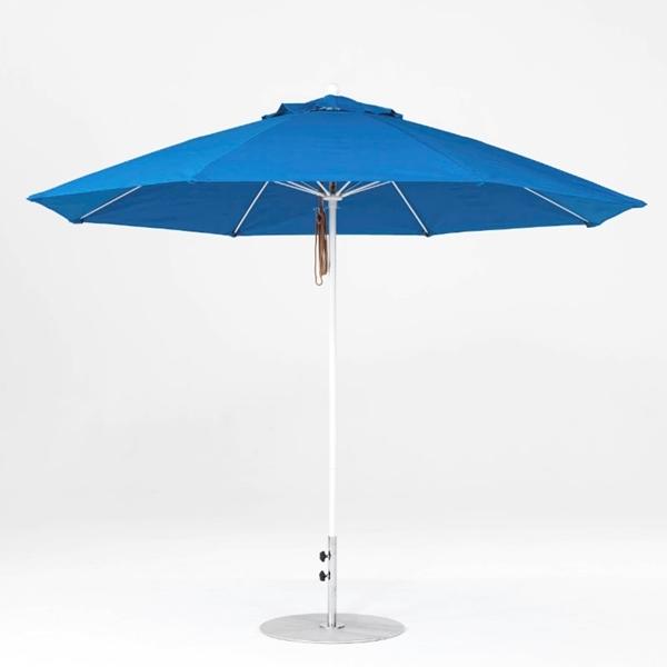 11 Foot Octagonal Fiberglass Market Umbrella with Pacific Blue Marine Grade Fabric