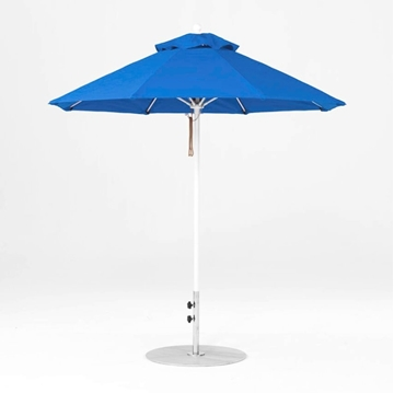 7.5 Foot Octagonal Fiberglass Market Umbrella with Pacific Blue Marine Grade Fabric