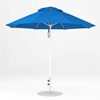 9 Foot Octagonal Fiberglass Market Umbrella with Pacific Blue Marine Grade Fabric