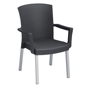 Havana Classic Plastic Resin Stackable Armchair