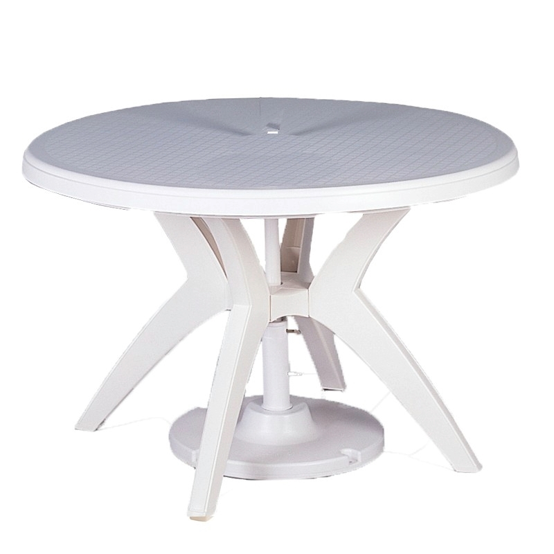 Round Ibiza Plastic Resin Dining Table Picnic Furniture