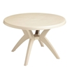 Ibiza 46 Inch Plastic Resin Round Dining Table