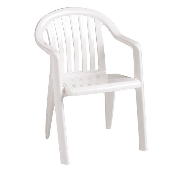 Miami Lowback Plastic Resin Stacking Armchair
