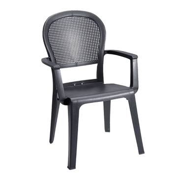 Seville Plastic Resin Stacking Armchair