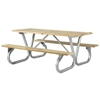 Rectangular Wooden Picnic Tables 6 foot