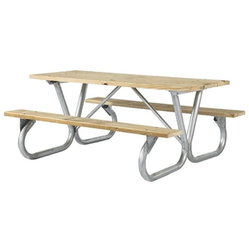Rectangular Wooden Picnic Tables 6 foot
