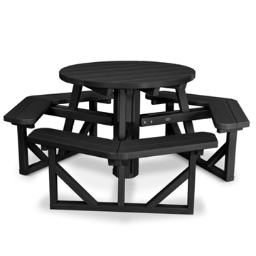 "36"" Round Recycled Plastic Picnic Table"