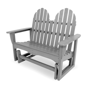 Polywood Adirondack Recycled Plastic 48 In. Glider Bench