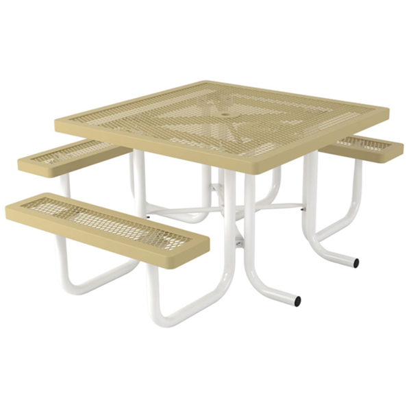 "ADA Wheelchair Accessible Picnic Table, 46"" x 57"" Tabletop with Attached Seats"