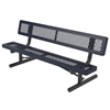 Child's Bench with Back 6 Ft. Plastic Coated Expanded Metal with 2 3/8 In. Galvanized Tube