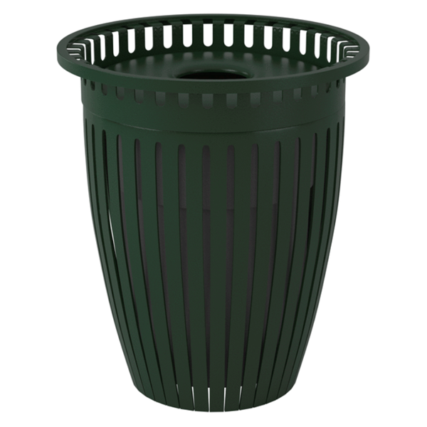 Crown Trash Receptacle 32 Gallon Plastic Coated Tapered with Flared Top