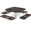 Octagon Picnic Table 46 In. Attached Seats Plastic Coated Rolled