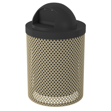 Perforated Trash Receptacle 32 Gallon