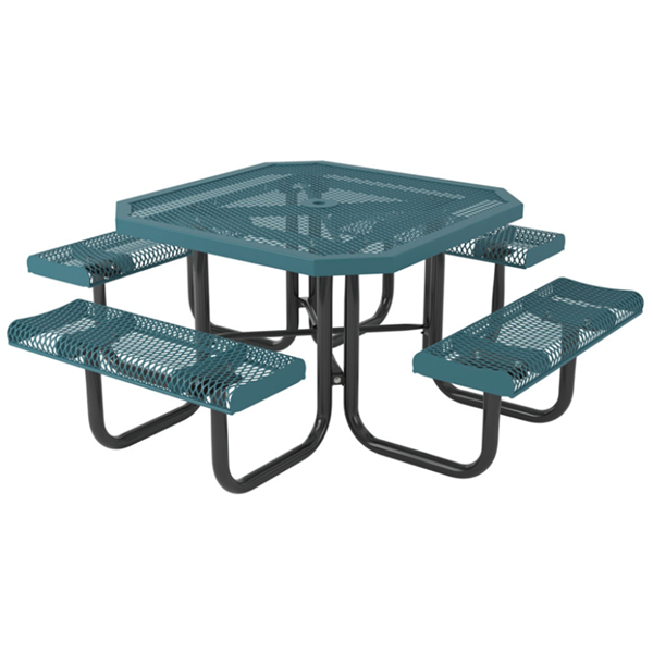 Picnic Table Octagon 46 In. Attached Seats