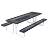 Rectangular Picnic Table 8 Ft. Attached Seat Plastic Coated Expanded Metal