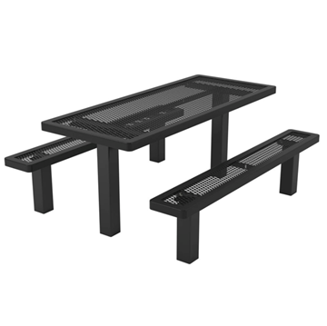 Rectangular Thermoplastic Picnic Table 6 Ft. Unattached Seats
