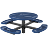 Round Picnic Table 46 In. with Attached Concave Seats