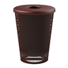 Tapered Trash Receptacle 32 Gallon Plastic Coated Expanded Metal