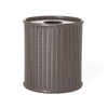 Zion 32 Gallon Powder Coated Steel Trash Receptacle
