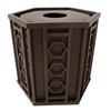 Biscayne 32 Gallon Powder Coated Steel Trash Receptacle
