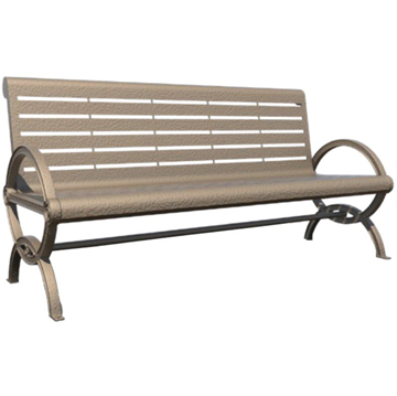 Gateway Steel Bench with Back and Aluminum Frame