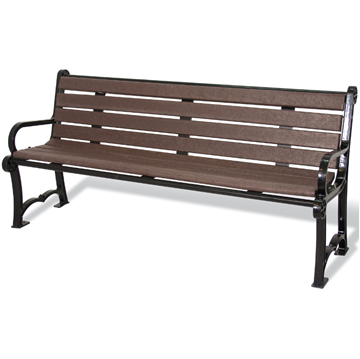 Cascades Recycled Plastic Bench with Back