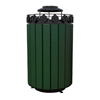 Cascades 32 Gallon Recycled Plastic Trash Receptacle