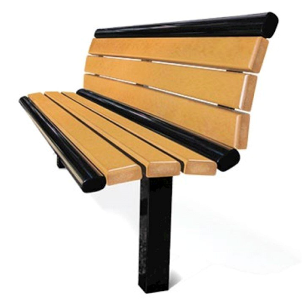 Arches 6 Foot Recycled Plastic Bench with Back