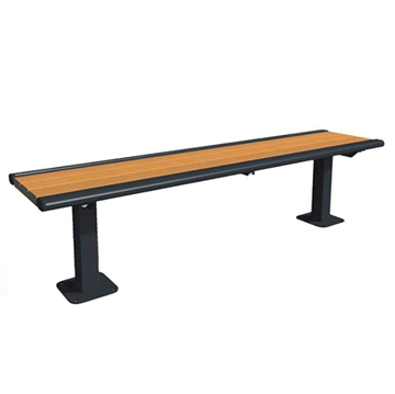 Arches 6 Foot Recycled Plastic Bench without Back