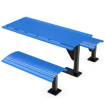 Arches 6 Ft. Steel Cantilever Picnic Table