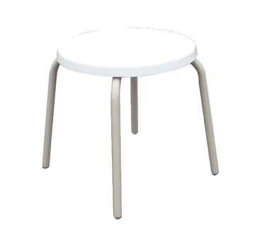 """18"""" Round Stacking Fiberglass Top Pool Side Table"""