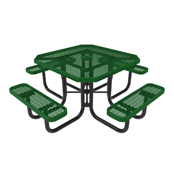 "46"" RHINO Octagonal Thermoplastic Picnic Table with Portable Frame, 246 lbs."
