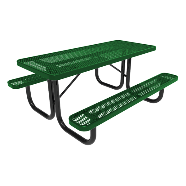 6 Ft. RHINO Rectangular Thermoplastic Picnic Table with Portable Frame