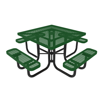 "46"" RHINO Square Thermoplastic Picnic Table with Portable Frame, 257 lbs."