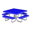"48"" Square Fiberglass Top Picnic Table"
