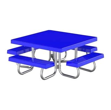 """48"""" Square Fiberglass Top Picnic Table"""